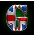 Great britain metal figure g vector