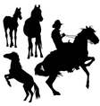 Horse silhouette collection vector