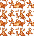 Seamless kangaroo vector