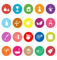 Spa treatment flat icons on white background vector