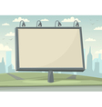 Billboard with city background vector