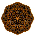 Ornamental circle pattern vector