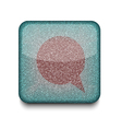 Bubble speech icon vector