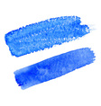 Blue watercolor brush strokes for your design vector