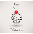 Pictograph of cake icon template for your design vector