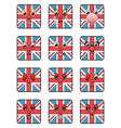 Union jack emoticons vector