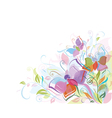 Floral background butterfly vector