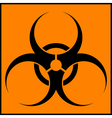 Biohazard orange sign vector