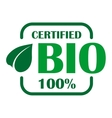 Green bio label or sign vector
