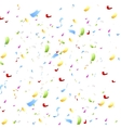 Bright shiny confetti on white background vector
