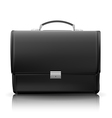 Black business briefcase vector