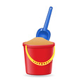 Plastic bucket and shovel 02 vector