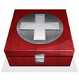 First aid kit box vector