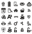 Black business icons set on white vector