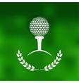 Golf symbol green blurred background vector