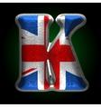 Great britain metal figure k vector
