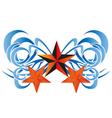 Three stars tattoos tribal with ribbon on white b vector