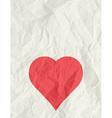 Valentine red heart over beige background vector