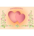 Decorative colorful floral hearts eps10 vector