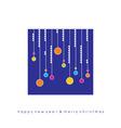Christmas greeting card with balls vector