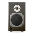 Black audio speaker vector