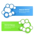 3d banners with circle vector