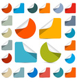 Colorful empty stickers - labels set isolated on vector