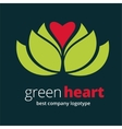 Abstract nature logotype with heart isolated on vector