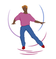 Dancing guy vector