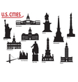 Us cities vector