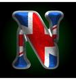 Great britain metal figure n vector