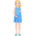 Happy pregnant woman vector