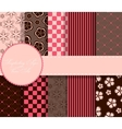 Set of beaautiful paper for scrapbook vector