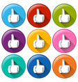 Round icons with approval sign vector