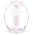 Wedding groom suit in frame vector