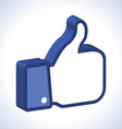 3d thumb up icon vector