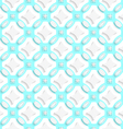 White ornament with cyan seamless vector