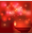 Oil lamp blurred background vector