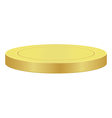 Blank gold coin vector