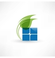 Abstract eco leaf icon vector