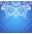 Blue ornate vintage wedding card background vector