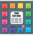 Apps icons set and text frame template vector