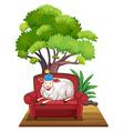 Sheep on sofa vector