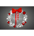 Abstract christmas background with christmas vector