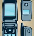 Color cellphone set vector