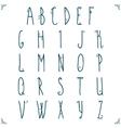 Hand drawn alphabet design vector