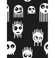 Ghost monsters seamless pattern vector