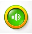 Green glass sound button vector