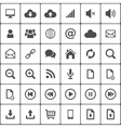 Internet web icon pack on white vector