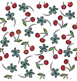 Seamless pattern with cherries vector